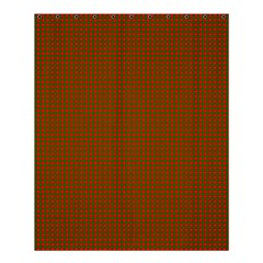 Classic Christmas Red And Green Houndstooth Check Pattern Shower Curtain 60  X 72  (medium)  by PodArtist