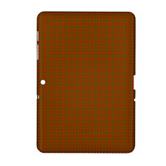 Classic Christmas Red And Green Houndstooth Check Pattern Samsung Galaxy Tab 2 (10 1 ) P5100 Hardshell Case  by PodArtist