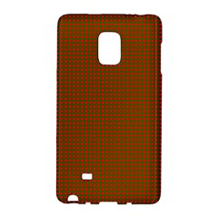 Classic Christmas Red And Green Houndstooth Check Pattern Galaxy Note Edge by PodArtist