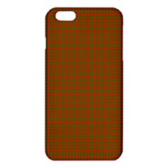 Classic Christmas Red And Green Houndstooth Check Pattern Iphone 6 Plus/6s Plus Tpu Case by PodArtist