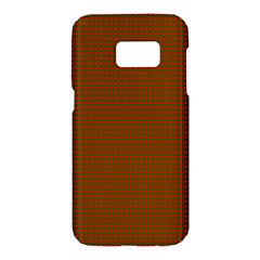 Classic Christmas Red And Green Houndstooth Check Pattern Samsung Galaxy S7 Hardshell Case  by PodArtist