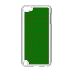 Mini Red Dots On Christmas Green Apple Ipod Touch 5 Case (white) by PodArtist