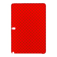 Small Christmas Green Polka Dots On Red Samsung Galaxy Tab Pro 12 2 Hardshell Case by PodArtist