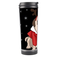 Pug Xmas Travel Tumbler by Valentinaart