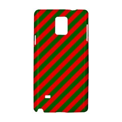 Red And Green Christmas Candycane Stripes Samsung Galaxy Note 4 Hardshell Case by PodArtist