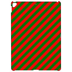 Red And Green Christmas Candycane Stripes Apple Ipad Pro 12 9   Hardshell Case