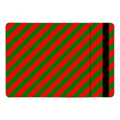 Red And Green Christmas Candycane Stripes Apple Ipad Pro 10 5   Flip Case