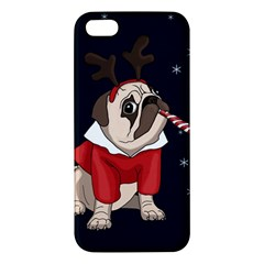 Pug Xmas Apple Iphone 5 Premium Hardshell Case