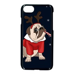 Pug Xmas Apple Iphone 8 Seamless Case (black) by Valentinaart