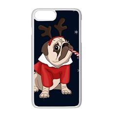 Pug Xmas Apple Iphone 8 Plus Seamless Case (white) by Valentinaart