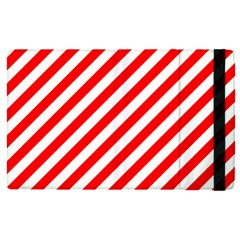 Christmas Red And White Candy Cane Stripes Apple Ipad Pro 12 9   Flip Case