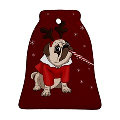 Pug Xmas Bell Ornament (two Sides) by Valentinaart