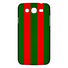 Wide Red And Green Christmas Cabana Stripes Samsung Galaxy Mega 5 8 I9152 Hardshell Case  by PodArtist