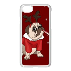 Pug Xmas Apple Iphone 7 Seamless Case (white) by Valentinaart