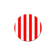 Wide Red And White Christmas Cabana Stripes Golf Ball Marker by PodArtist