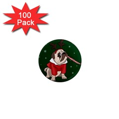 Pug Xmas 1  Mini Magnets (100 Pack)  by Valentinaart