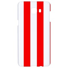 Wide Red And White Christmas Cabana Stripes Samsung C9 Pro Hardshell Case  by PodArtist