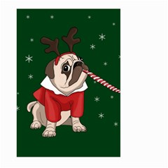 Pug Xmas Large Garden Flag (two Sides) by Valentinaart
