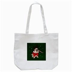 Pug Xmas Tote Bag (white) by Valentinaart