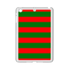 Red And Green Christmas Cabana Stripes Ipad Mini 2 Enamel Coated Cases by PodArtist