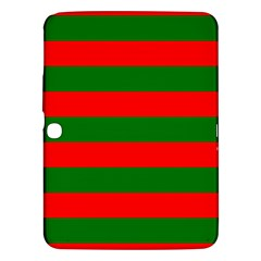 Red And Green Christmas Cabana Stripes Samsung Galaxy Tab 3 (10 1 ) P5200 Hardshell Case  by PodArtist