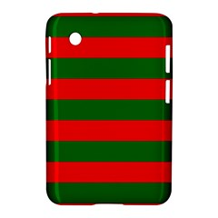 Red And Green Christmas Cabana Stripes Samsung Galaxy Tab 2 (7 ) P3100 Hardshell Case  by PodArtist