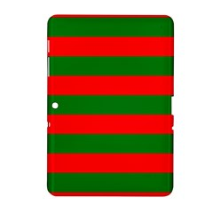 Red And Green Christmas Cabana Stripes Samsung Galaxy Tab 2 (10 1 ) P5100 Hardshell Case  by PodArtist