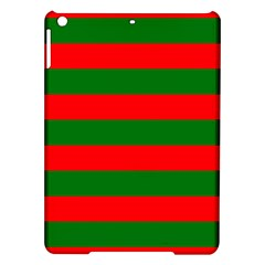 Red And Green Christmas Cabana Stripes Ipad Air Hardshell Cases by PodArtist