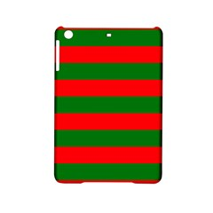 Red And Green Christmas Cabana Stripes Ipad Mini 2 Hardshell Cases by PodArtist