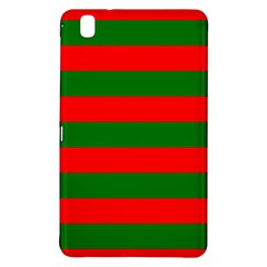 Red And Green Christmas Cabana Stripes Samsung Galaxy Tab Pro 8 4 Hardshell Case by PodArtist