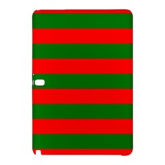 Red And Green Christmas Cabana Stripes Samsung Galaxy Tab Pro 12 2 Hardshell Case by PodArtist