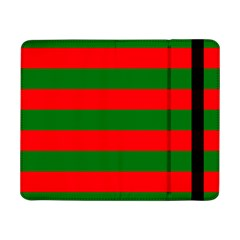 Red And Green Christmas Cabana Stripes Samsung Galaxy Tab Pro 8 4  Flip Case by PodArtist
