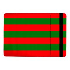 Red And Green Christmas Cabana Stripes Samsung Galaxy Tab Pro 10 1  Flip Case by PodArtist