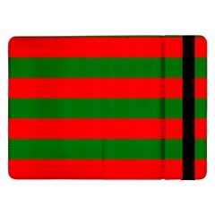 Red And Green Christmas Cabana Stripes Samsung Galaxy Tab Pro 12 2  Flip Case by PodArtist