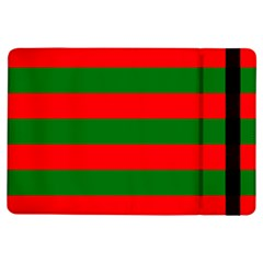 Red And Green Christmas Cabana Stripes Ipad Air Flip by PodArtist
