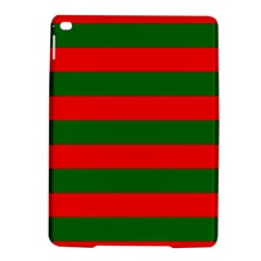 Red And Green Christmas Cabana Stripes Ipad Air 2 Hardshell Cases by PodArtist