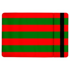 Red And Green Christmas Cabana Stripes Ipad Air 2 Flip by PodArtist