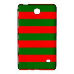 Red And Green Christmas Cabana Stripes Samsung Galaxy Tab 4 (8 ) Hardshell Case  by PodArtist