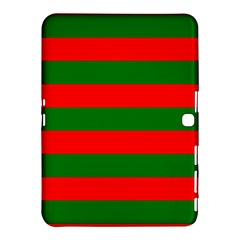 Red And Green Christmas Cabana Stripes Samsung Galaxy Tab 4 (10 1 ) Hardshell Case  by PodArtist