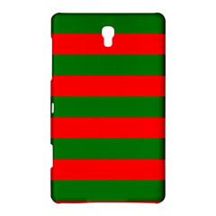 Red And Green Christmas Cabana Stripes Samsung Galaxy Tab S (8 4 ) Hardshell Case  by PodArtist