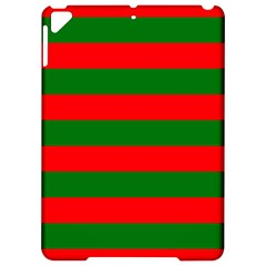 Red And Green Christmas Cabana Stripes Apple Ipad Pro 9 7   Hardshell Case by PodArtist