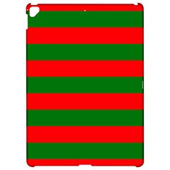Red And Green Christmas Cabana Stripes Apple Ipad Pro 12 9   Hardshell Case by PodArtist