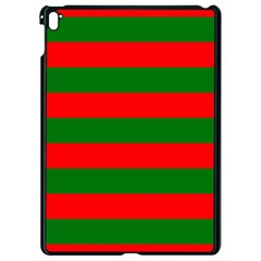 Red And Green Christmas Cabana Stripes Apple Ipad Pro 9 7   Black Seamless Case by PodArtist