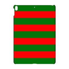 Red And Green Christmas Cabana Stripes Apple Ipad Pro 10 5   Hardshell Case by PodArtist
