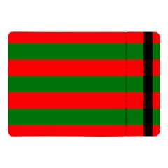 Red And Green Christmas Cabana Stripes Apple Ipad Pro 10 5   Flip Case by PodArtist