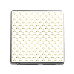 Gold Scales Of Justice On White Repeat Pattern All Over Print Memory Card Reader (square) by PodArtist