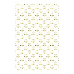 Gold Scales Of Justice On White Repeat Pattern All Over Print Shower Curtain 48  X 72  (small)  by PodArtist