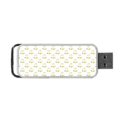 Gold Scales Of Justice On White Repeat Pattern All Over Print Portable Usb Flash (two Sides) by PodArtist