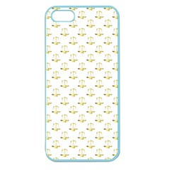 Gold Scales Of Justice On White Repeat Pattern All Over Print Apple Seamless Iphone 5 Case (color) by PodArtist