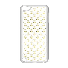 Gold Scales Of Justice On White Repeat Pattern All Over Print Apple Ipod Touch 5 Case (white) by PodArtist